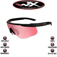 Wiley X lente rosa anti-balas. Creadas por el suministrador de gafas del ejército de los Estados Unidos. No son réplicas. Son reales #wileyx #saberadvanced #gafastacticas #airsoft
