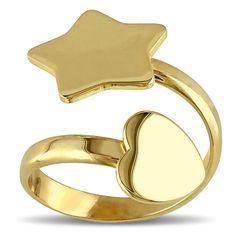 Miadora Silver Bypass Ring
