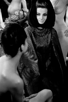 Frank Horvat - Harper's Bazaar Collection, Iris Bianchi at Crazy Horse, 1962