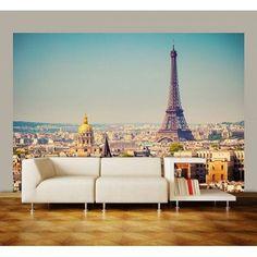 Paris mit Eiffelturm. Wandtapete