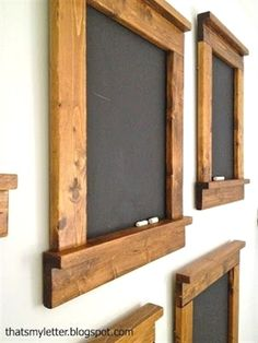 Creating beautiful & simple blackboards - great gift and great for home. I really want to try this! #WoodworkingProjects