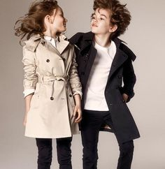 Love these Burberry Kids Trench Coats. Perfect for any look!