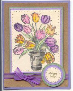 WT142 Bucket of Tulips