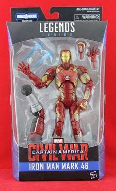"Iron Man Mark 46 Marvel Legends 6"" Action Figure BAF Giant Man Free Shipping NIB #Hasbro"