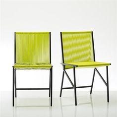 Chaise tressée design (lot de 2), Création Studio Pool BENSIMON