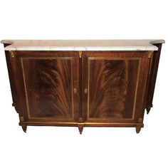 HADLEY: FOYER? Wonderful French Maison Jansen Ormolu Bronze Marble Top Commode Chest Console | From a unique collection of antique and modern commodes and chests of drawers at https://www.1stdibs.com/furniture/storage-case-pieces/commodes-chests-of-drawers/