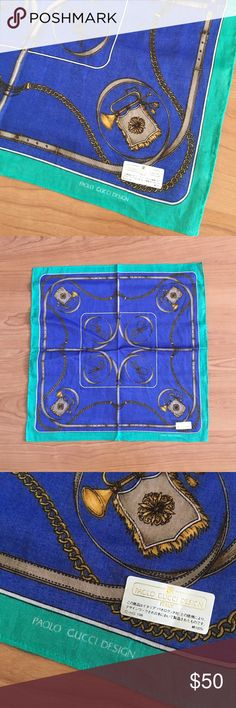 "Authentic Paola Gucci cotton handkerchief Authentic Paola Gucci cotton handkerchief. Approximately 16""x16"". In great condition. Thank you! Gucci Accessories Scarves & Wraps"