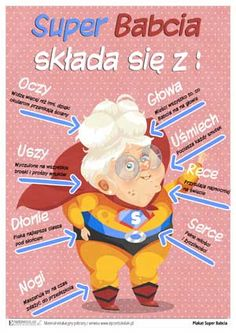 ePrzedszkolaki - karty pracy i pomoce dydaktyczne do wydruku, gry edukacyjne dla dzieci online Grandparents Day Crafts, Diy And Crafts, Crafts For Kids, Weekend Humor, Diy Valentines Cards, Couple Cartoon, Family Day, Working With Children, Mason Jar Diy