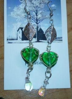 Green with envy earrings handmade earrings