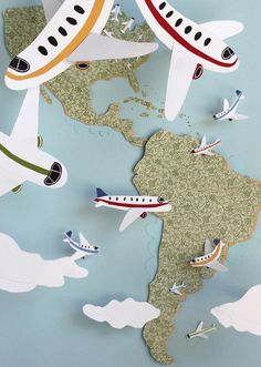 """Latin America Getaway,"" editorial illustration, The New York Times, September 2012"