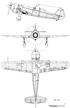3 View of the Focke Wulf Fw 190 Ww2 Aircraft, Fighter Aircraft, Military Aircraft, Luftwaffe, Airplane Sketch, Airplane Design, Focke Wulf 190, Schematic Drawing, Aircraft Design