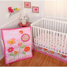 Sumersault Garden Girl 4-Piece Crib Bedding Set