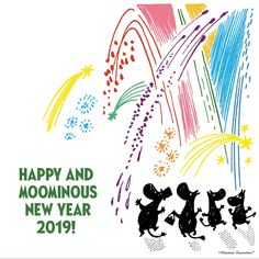 We wish you a new year filled with adventures and love. Happy and Moominous New Year 💖✨ Moomin Valley, Tove Jansson, New Year 2017, Wish, Adventure, Love, News, Happy, Artwork