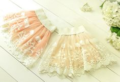 A stunning and ultra feminine floral Lace and soft tule skirt with a thick cream elastic band and a beautiful scalloped trim!Perfect for your sweet little Bebe Boheme Angel or to have in your prop stash ready for a styled portrait session! Your clients will love it!This little beauty comes in the 2 following colors:Blush