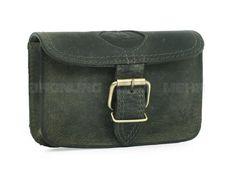 Greenburry Gürteltasche Leder Hüfttasche Hip Bag Querformat VINTAGE - antikbraun oder oliv