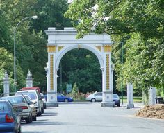 Entrance to Pearson Park, Kingston upon Hull, East Yorkshire, England