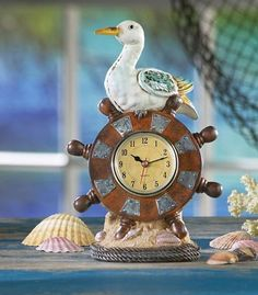 Beach Decor Nautical Table Clock must have for the office