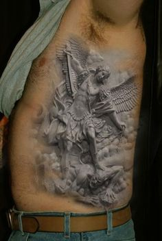 WOAH.....not what I am looking for but this is freaking CRAZY!!!!!! 3D Tattoo - Ink - Good vs Evil - Photography