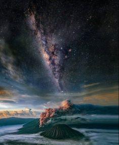 Milky Way Over Mount Bromo