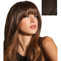 Hairdo Clip-In Bang Chocolate Copper