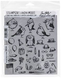 #artwork #STAMPERS ANONYMOUS-Tim Holtz Collection: Cling Rubber Stamps. These red rubber #stamps come mounted on cling foam so you can use them with any acrylic b...