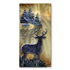 Perfectly showcasing the beauty of nature, the Buck By The Lake Metal Wall Art - x in. boasts a proud buck as he stands in the grass near. Framed Wall Art, Wall Canvas, Wall Art Decor, Canvas Art, Metal Wall Sculpture, Wall Sculptures, Sculpture Art, Metal Yard Art, Metal Art