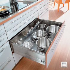 Pots and Pan Storage | Saucepan Lid Storage | Pan Drawer Dividers
