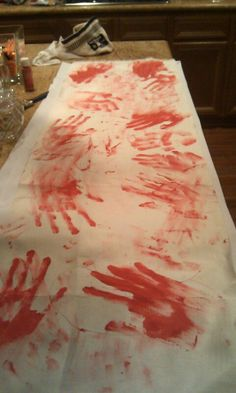 Bloody table runner