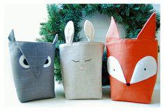 fox fabric bucket