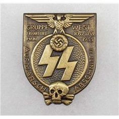 German Nazi SS 1933 Gruppe Frankfurt Badge