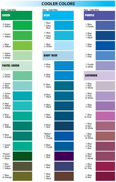 Satin Ice Mixing Guide Cool Colours