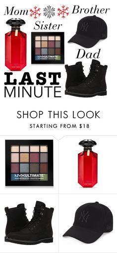 """""""last minute gifts"""" by j-n-a ❤ liked on Polyvore featuring NYX, Victoria's Secret, Timberland, New Era, LastMinute and holidaygiftguide"""