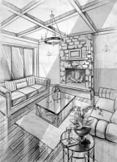 Interior design is the best thing you can do for your home Interior Architecture Drawing, Drawing Interior, Interior Design Sketches, Architecture Design, Room Perspective Drawing, Perspective Sketch, Drawing Sketches, Drawings, Drawing Ideas