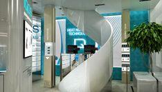 IQOS Flagship Store, Chiado - Lisboa   Philip Morris on Behance Office Interior Design, Office Interiors, Cork Panels, Cork Wall, Camera Store, Keep It Cleaner, Behance, Mirror, Luxury