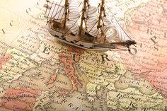 Hd wallpapers map, marine theme, europe, europa, ship 1920 x 1080 desktop h Ship Map, Map Wallpaper, Travel Wallpaper, Old World Maps, Map Globe, Black Sails, Pirate Life, Living At Home, Model Ships