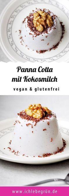 Vegane Panna Cotta mit Kokosmilch - leckeres Rezept