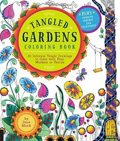 Introducing Tangled Gardens Coloring Book 52 Intricate Tangle Drawings to Color with Pens Markers or Pencils Tangled Color and Draw. Buy Your Books Here and follow us for more updates!