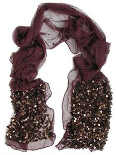 Tulle and Paillettes Scarf