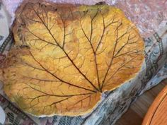 Hypertufa leaves video. Great ideas on this site.