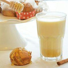 Yoghurt chia muffin and chai latte