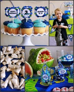 This Awesome Shark Themed 3rd Birthday Party was submitted by Renee Roberts of Renees Soirees. What a...