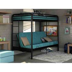 ikea bunk beds with futon antique walnut columbia twin over futon bunk bed with flat panel      rh   pinterest