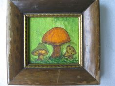 Adorable Vintage Mushroom Handpainted by PatsyTexasRose on Etsy