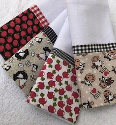 Towel Crafts, Diy Crafts, Sewing To Sell, Tea Towels, Couture, Patches, Embroidery, Things To Sell, Accessories