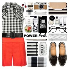 """""""What's Your Power Look?"""" by barbarela11 ❤ liked on Polyvore featuring Stella & Dot, Marques'Almeida, Nicole Miller, James Perse, Bobbi Brown Cosmetics, Round Towel Co., Caso, MAC Cosmetics, philosophy and NARS Cosmetics"""