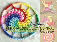 Atrapasueños espiral crochet pap