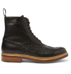 How awesome would these GrensonFred Leather Brogue Boots look with a groom's grey suit? #groom #style