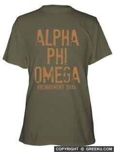Alpha Phi Omega Stampete Regular Cotton T-shirt