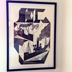 Charles Shearer collagraph print up!