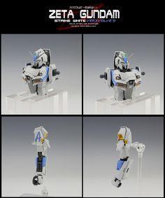 MG Zeta Gundam Strike White Z ver. Zeta Gundam, Msv, Gundam Model, Mobile Suit, Conversation, The 100, Resin, Models, Templates